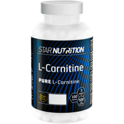 Medium l carnitine500 mg 100 kapslar star nutrition 1
