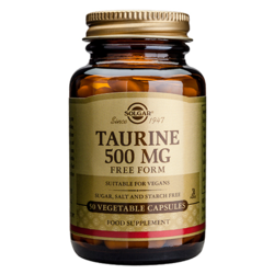 Medium taurin 500mg 50 kapslar solgar 1