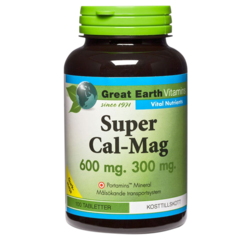 Medium super cal mag 600 300 mg 100 tabletter great earth 1