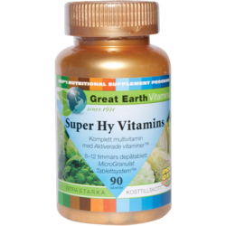 Medium super hy vitamins 90 veg tabletter great earth 1