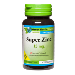 Medium super zinc 15mg 100 tabletter great earth 1