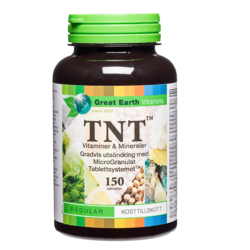 Medium tnt multivitamin mineral 120 tabletter great earth 1