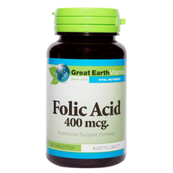 Medium folic acid 400 mcg 250 tabletter great earth 1