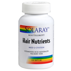 Medium solaray hair nutrients 60 kapslar veg 2 solaray 1