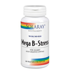 Medium solaray mega b stress 60 kapslar solaray 1