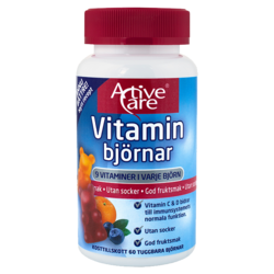 Medium vitaminbjornar 60 st active care 1