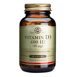Medium vitamin d 400 iu 100 kapslar solgar 1