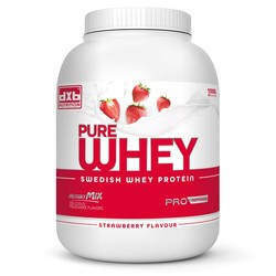 Medium dxb pure whey 1kg jordgubb