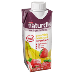 Medium laktosfri smoothie banan jordgubb 330 ml