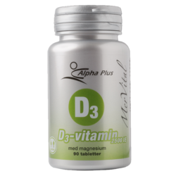 Medium d3 vitamin mervital 2500ie 90 tabletter alpha plus 1