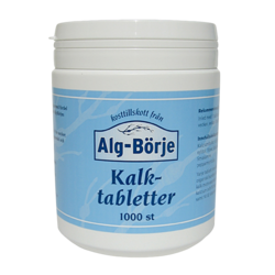 Medium kalktabletter 1000 tabletter alg borjes 1